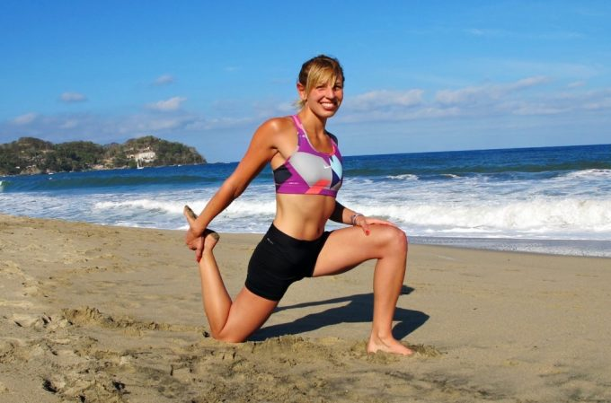 Runner's lunge with quad stretch