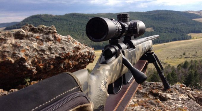 Hunting with gun scope