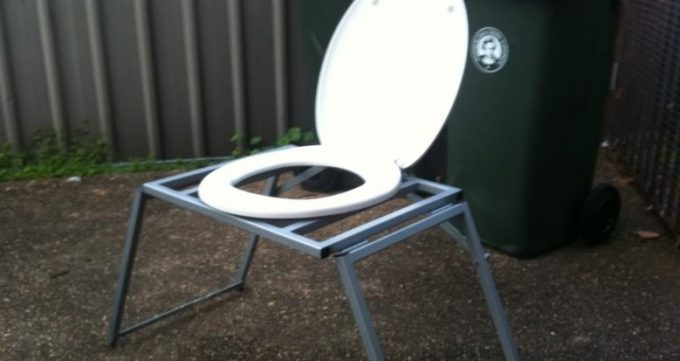 Outdoor toilet chair