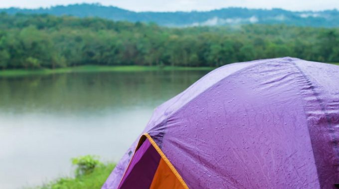 Sylicon tents in nature