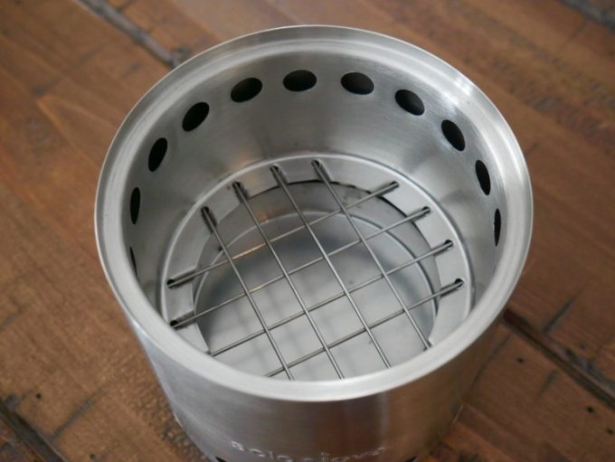 The mesh inside the stove