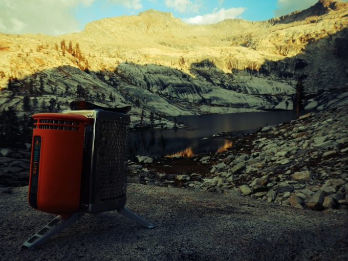 biolite stove with beautiful view