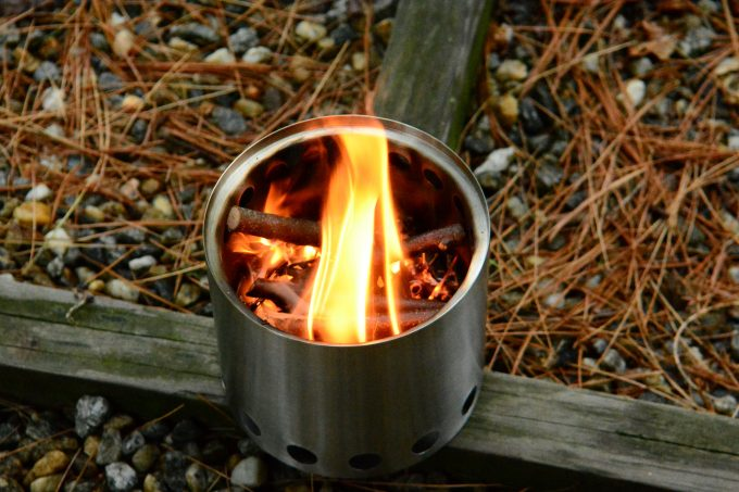 compact wood burning stove