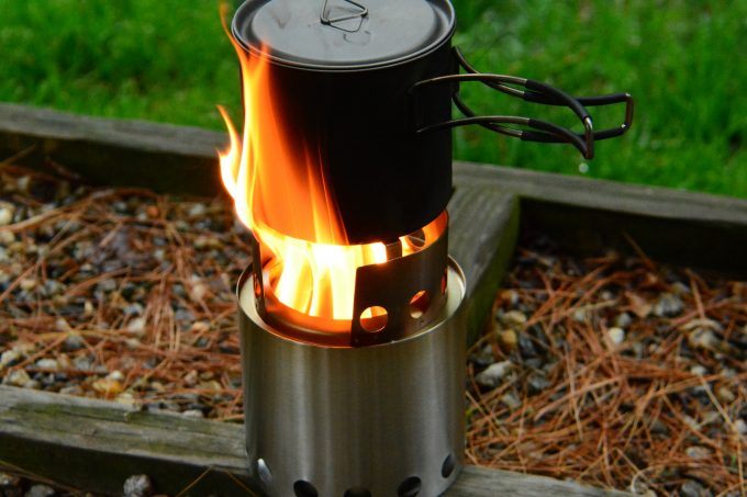 cooking on solo stove