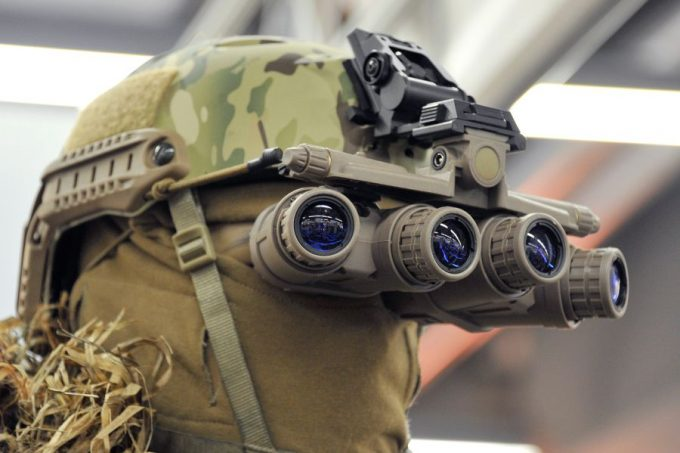 field of vision for Night Vision Goggles