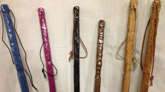 hiking stick decor
