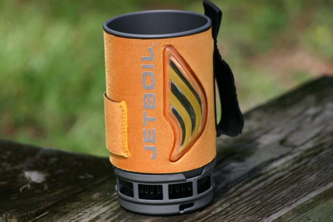 jetboil flash pot out of stove