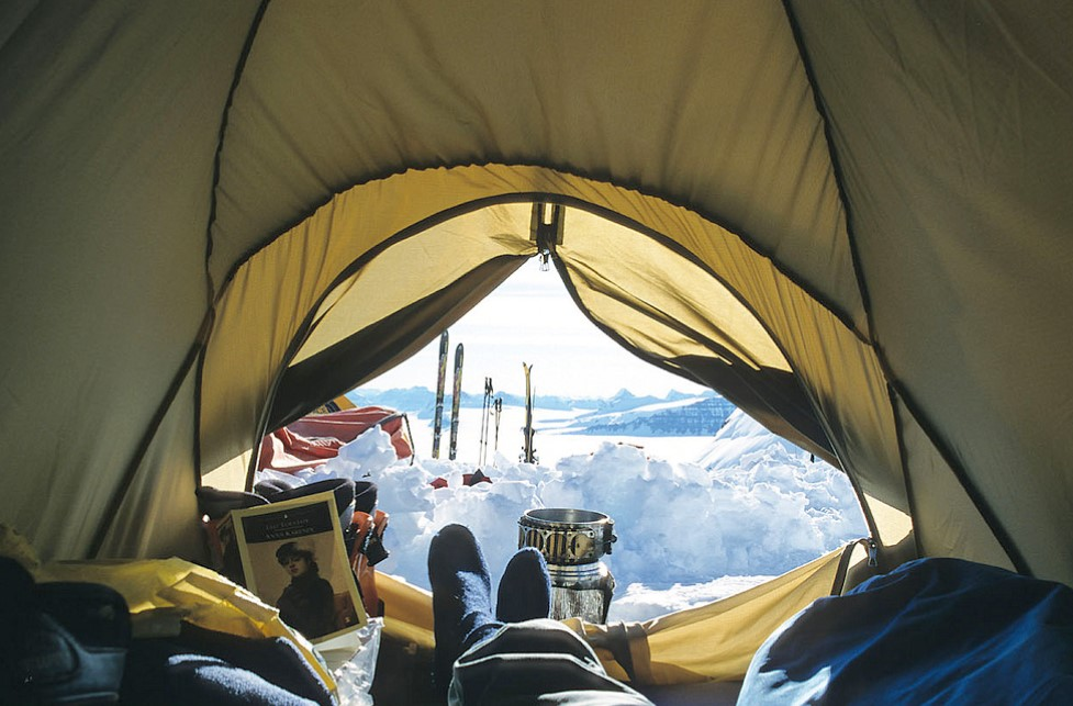 How to Winterize a summer tent to keep warmer in cold ...