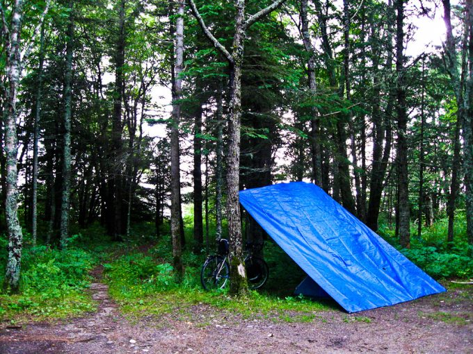 lean-to tarp tent