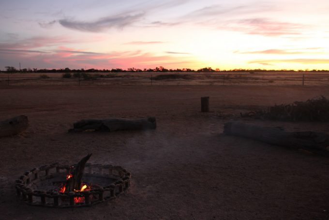 not entirely putted out campfire