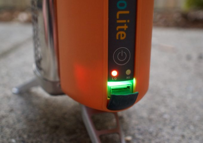 power module on biolite stove