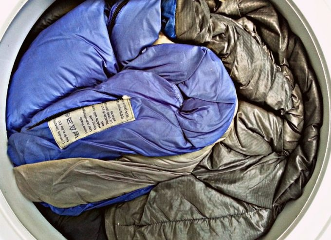 sleeping bags in washing machine
