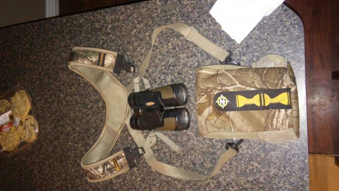 binocular harness with padding