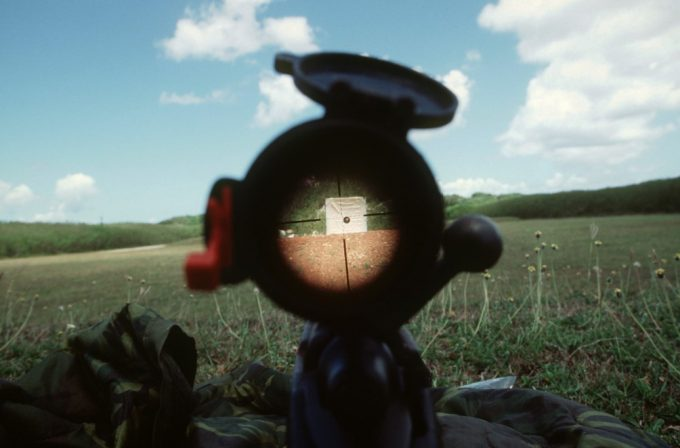 view through scope