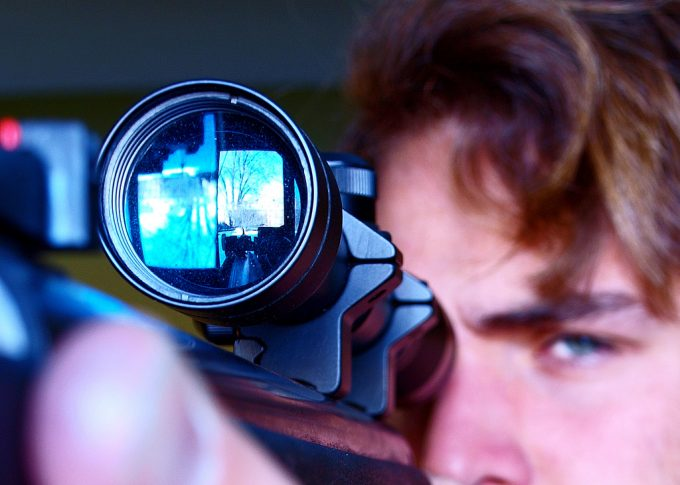 looking through pellet gun scope