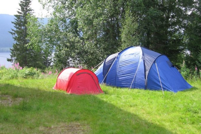 small and large tents