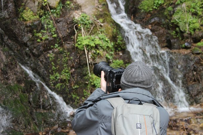 taking pictures of waterfalls