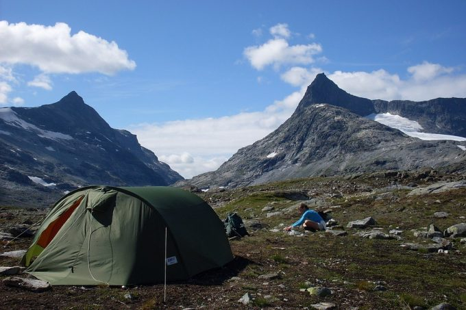 tent in norway