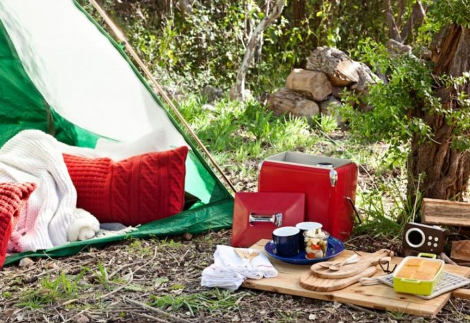cozy camping tent