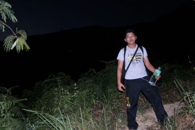 night-hiker-with-water-bottle