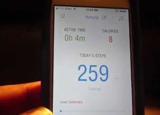 pedometer app on phone