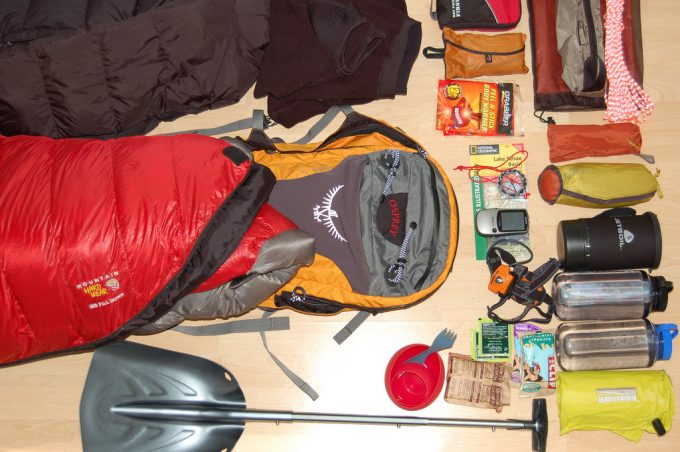 utility gear for snow camping