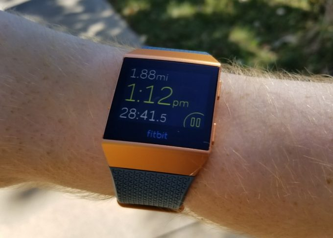 fitbit on hand