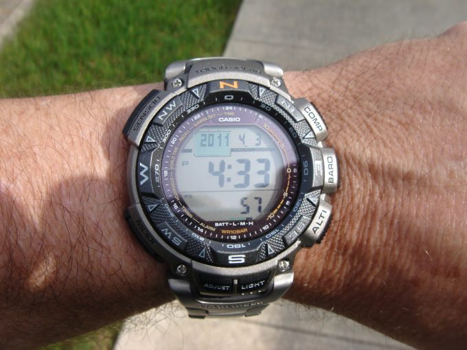 solar powered altimeter watch