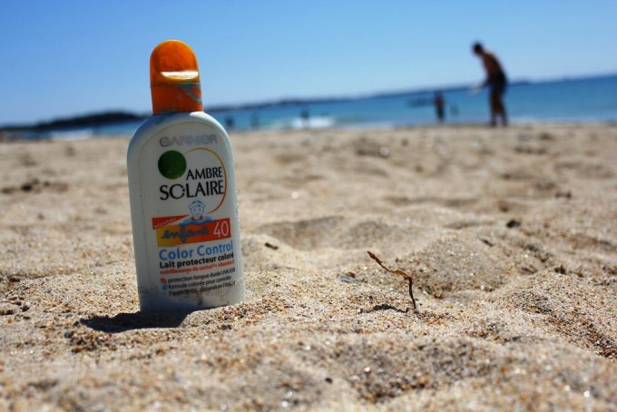 Sunscreen on the Beach