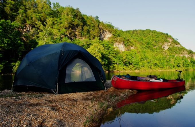 canoe camping tent