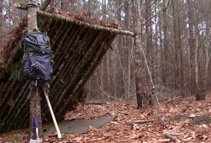 diy lean-to shelter
