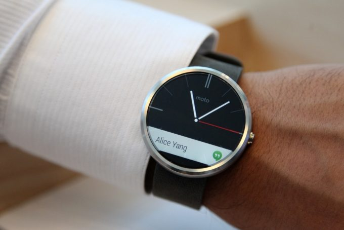 Black Android Watch on Hand