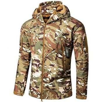 Camo Coll Soft Shell Hooded Tactical Jacket