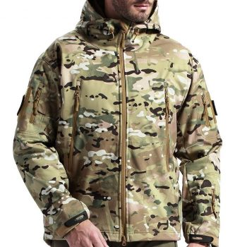 FREE SOLDIER Hooded Waterproof Jacket