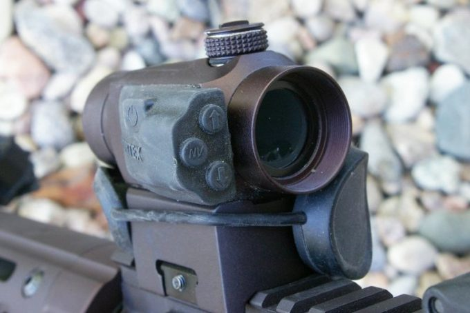 Red Dot Sight on a Rifle