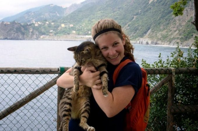 Woman is Carrying the Cat