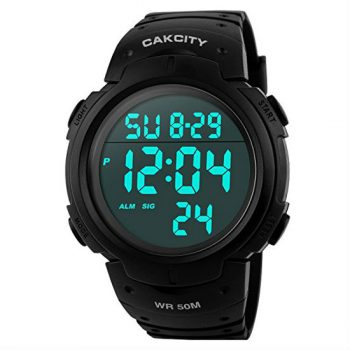 Cakcity Men's Digital Sports Watch LED