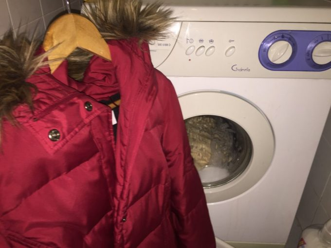Cleaning a jacket at home