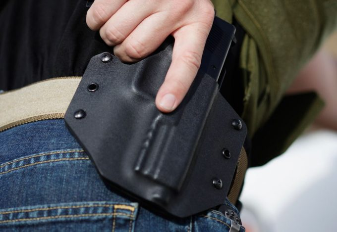 Person Wearing Kydex Holster